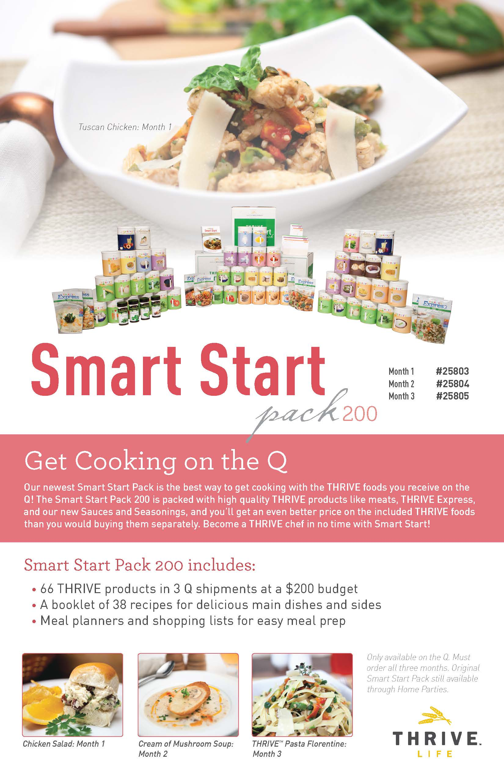 The Smart Start 200 Package gives you more variety with Thrive Life Foods.  Order one today!