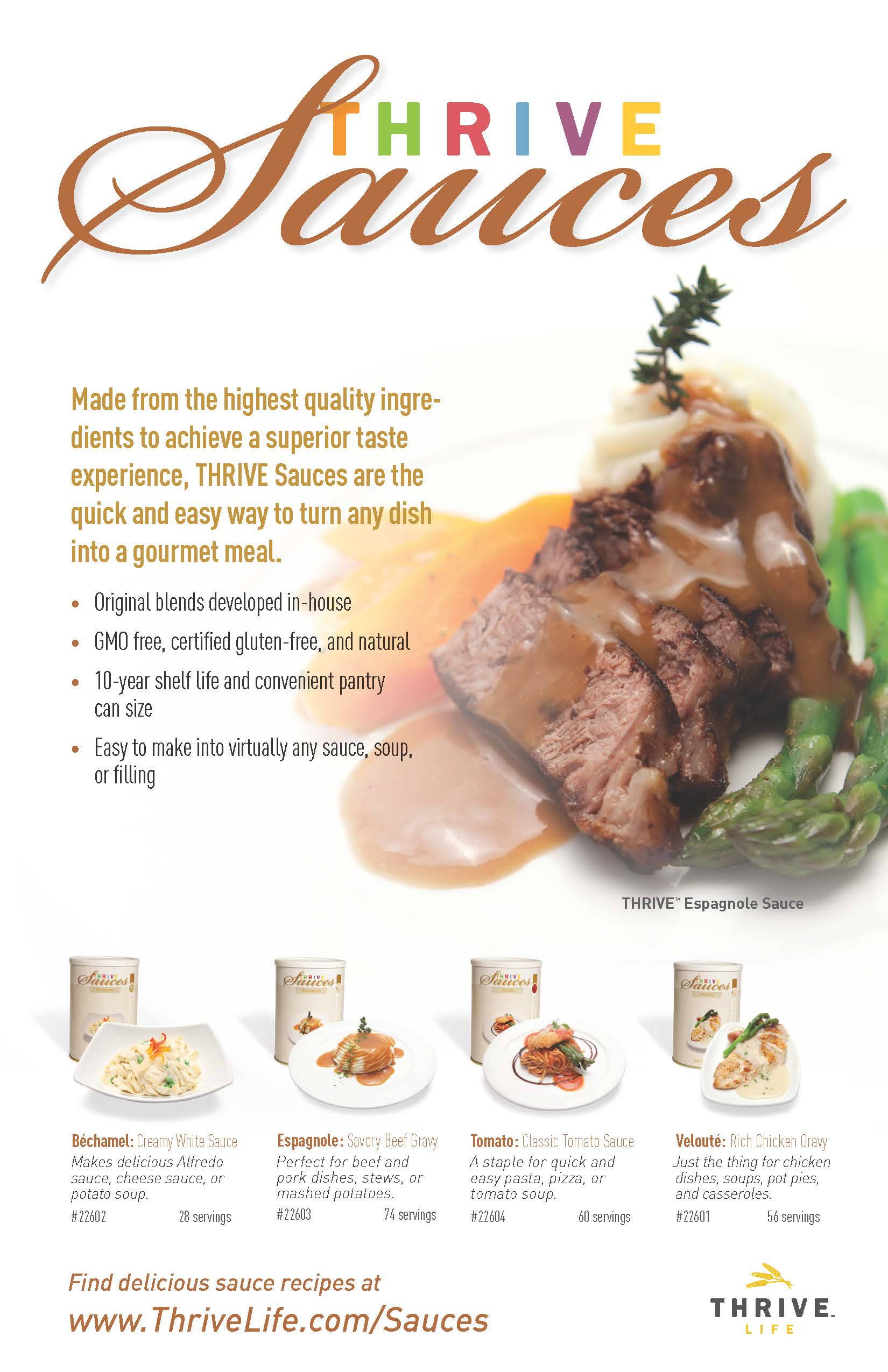 New!! Thrive Life Gourmet Sauces-Save on Premium Freeze Dried Foods!
