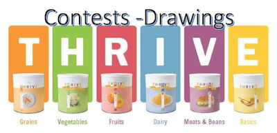 Our contests are independent of Thrive Life. To enter you must be one of our food ministry's customers.